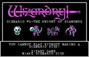 Wizardry II - The Knight of Diamonds title