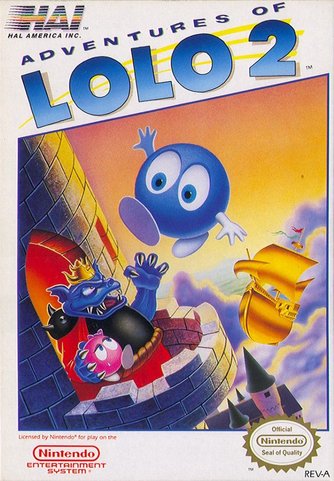 Adventures of Lolo 2 front
