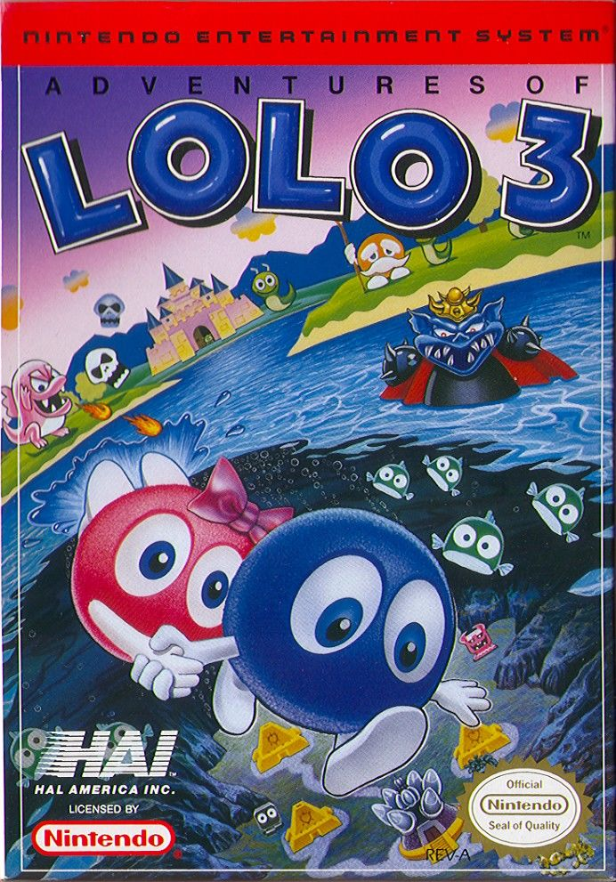 Adventures of Lolo 3 front