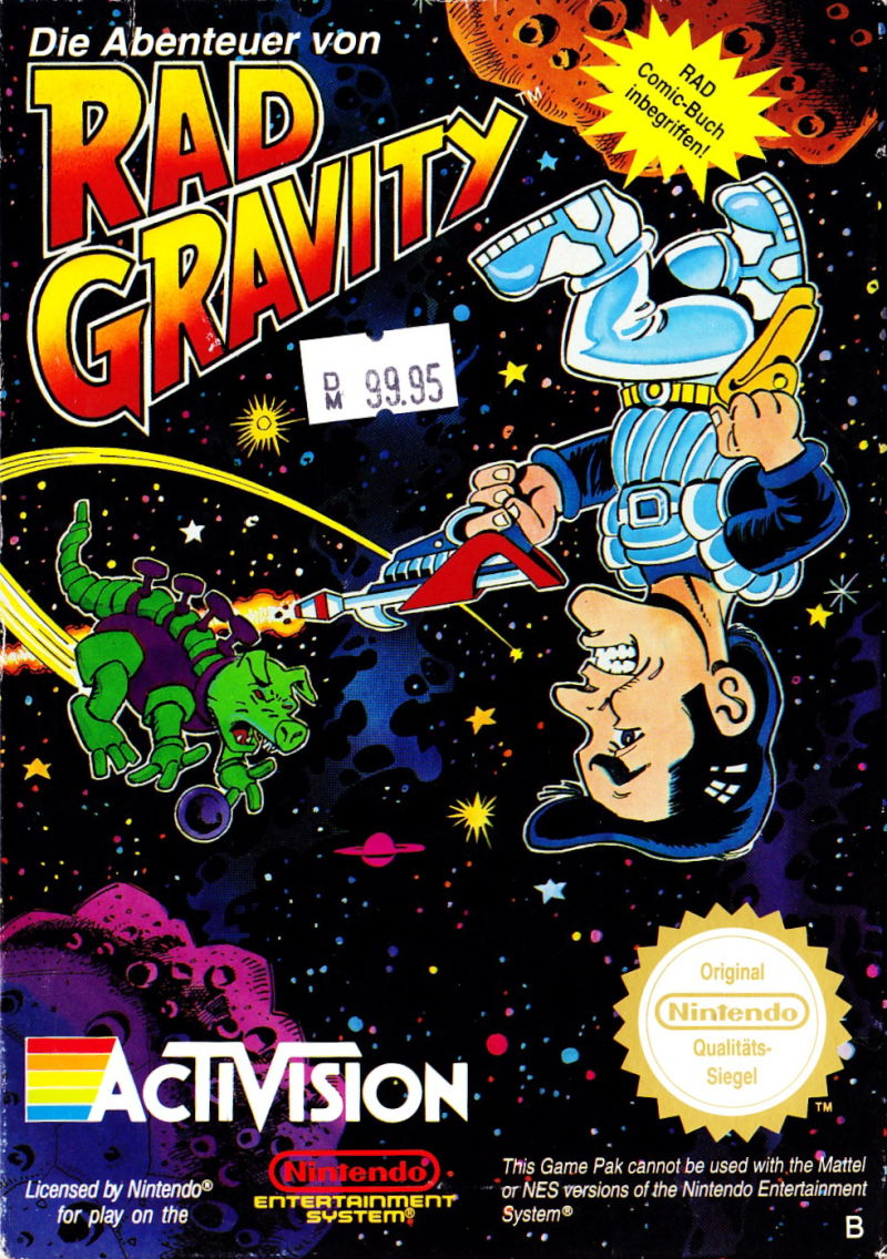 Adventures of Rad Gravity front
