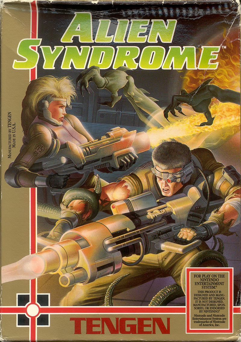Alien Syndrome nes front