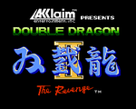 Double Dragon II - The Revenge nes title