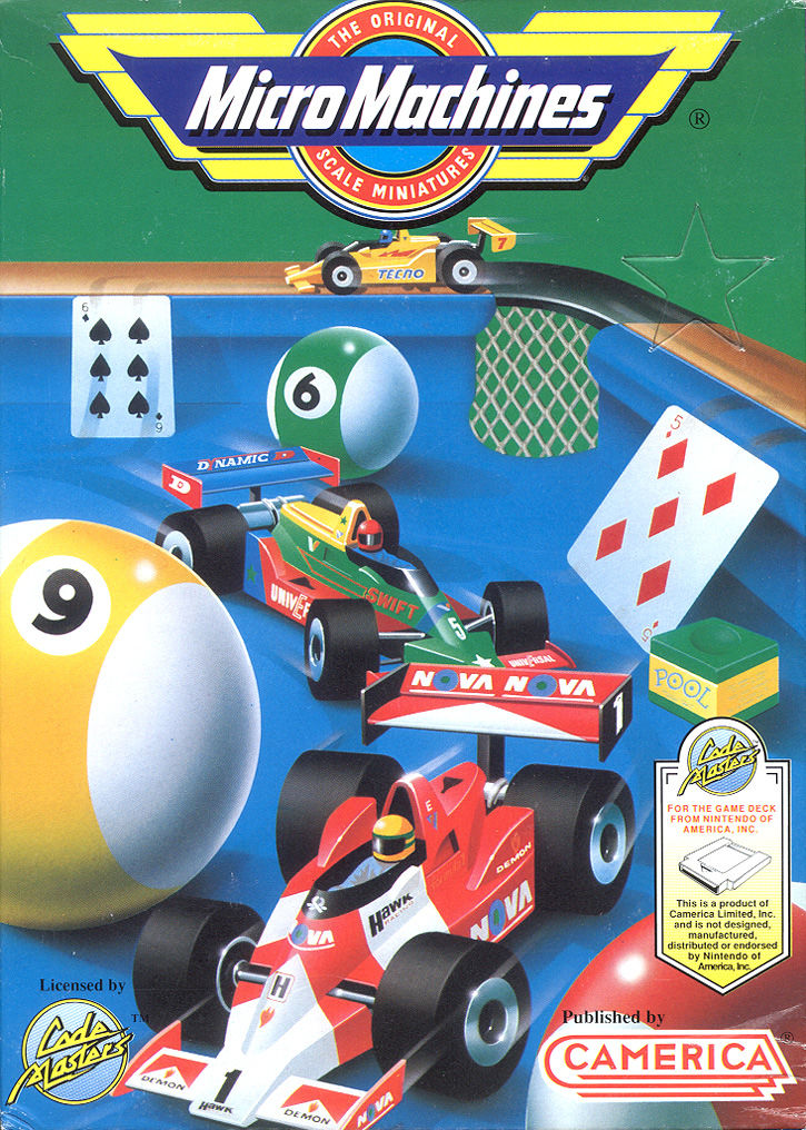 Micro Machines nes front