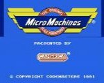 Micro Machines nes title