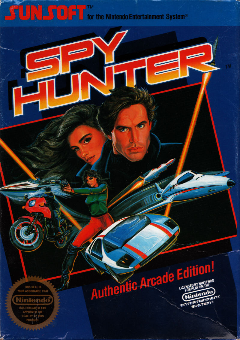 Spy Hunter nes front