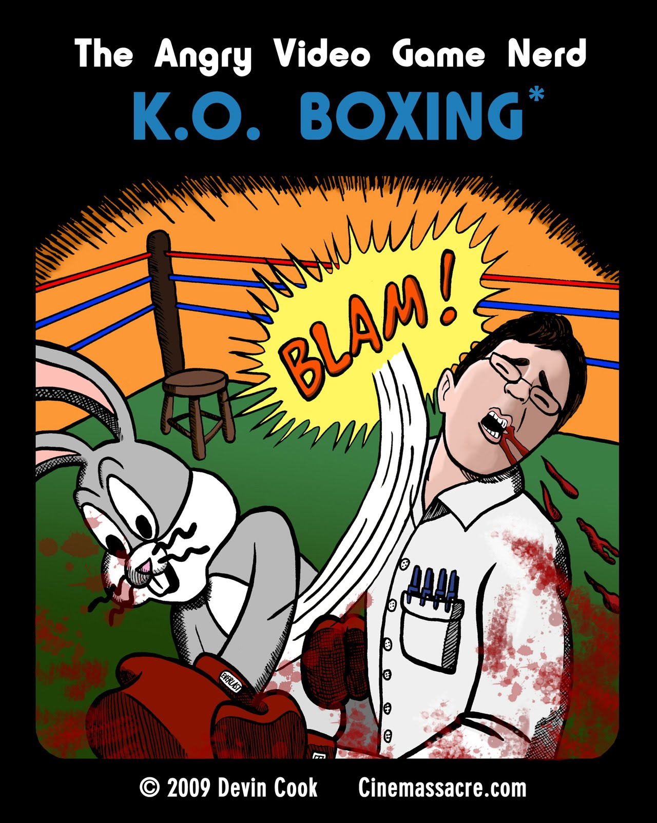 Angry Video Game Nerd KO Boxing front