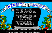 King's Quest - Quest for the Crown title
