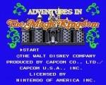 Adventures in the Magic Kingdom title