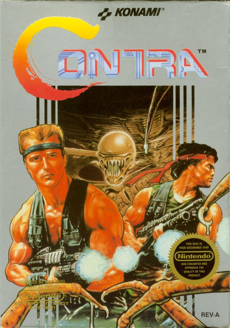 Contra NES front
