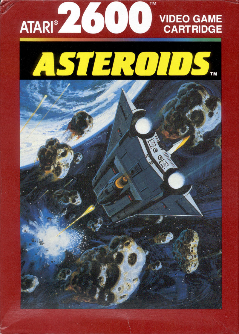 Asteroids Atari 2600 front